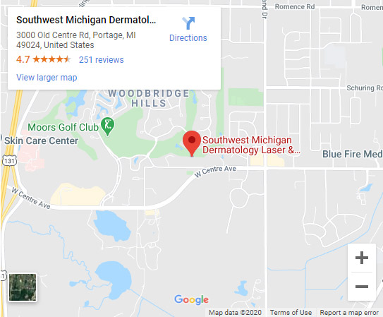 Directions to Southwest Michigan Dermatology in Portage, MI