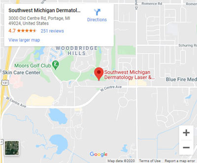 Directions to Southwest Michigan Dermatology in Portage, MI on 3000 Old Centre Road.